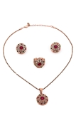 Picture of Simple And Elegant Rhinestone Colourful 3 Pieces Jewelry Sets