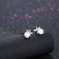 Picture of Attractive And Elegant Platinum Plated White Stud