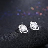 Picture of Excellent Quality  White Platinum Plated Stud