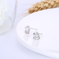 Picture of Simple And Elegant White Platinum Plated Stud