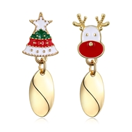 Show details for  Zinc Alloy Holiday Dangle Earrings 3LK053825E