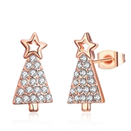 Show details for  Simple Cubic Zirconia Stud Earrings 3LK053849E