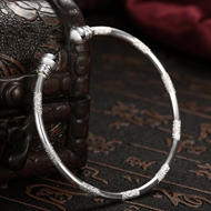 Picture of Wholesale Copper or Brass Platinum Plated Cuff Bangle with Speedy Delivery