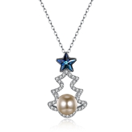 Show details for New Swarovski Element Colorful Pendant Necklace