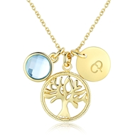 Show details for Female 925 Sterling Silver Swarovski Element Pendant Necklace