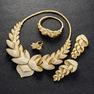 Picture of Luxury Cubic Zirconia 4 Piece Jewelry Set in Exclusive Design
