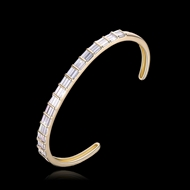 Picture of Funky Small Gold Plated Cuff Bangle