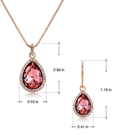 Picture of Fast Selling Red 16 Inch Necklace and Earring Set