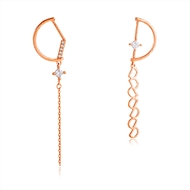 Picture of Delicate Medium Dangle Earrings in Exclusive Design