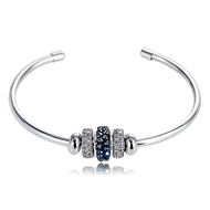 Picture of Zinc Alloy Platinum Plated Fashion Bangle from Certified Factory