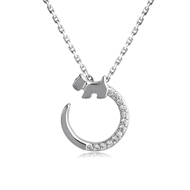 Picture of Trendy Platinum Plated Animal Pendant Necklace with No-Risk Refund