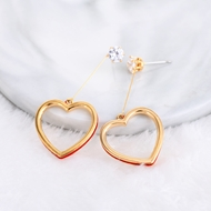 Picture of Zinc Alloy Love & Heart Dangle Earrings at Great Low Price