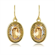 Picture of Zinc Alloy Gold Plated Dangle Earrings with Beautiful Craftmanship