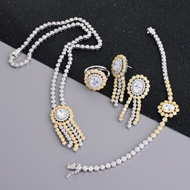 Picture of Luxury Cubic Zirconia 4 Piece Jewelry Set at Unbeatable Price