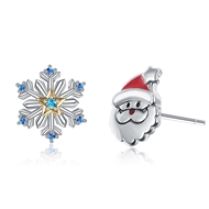 Show details for Inexpensive Platinum Plated Blue Stud Earrings of Original Design