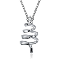 Show details for Women's Copper or Brass Platinum Plated Pendant Necklace with Speedy Delivery