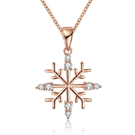 Show details for Hypoallergenic Rose Gold Plated Fashion Pendant Necklace