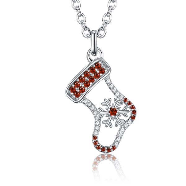 Picture of Purchase Platinum Plated Red Pendant Necklace Exclusive Online