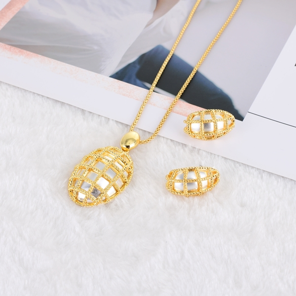 Picture of Shop Gold Plated Zinc Alloy Necklace and Earring Set with Wow Elements