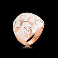 Picture of Eye-Catching White Enamel Fashion Ring with Member Discount