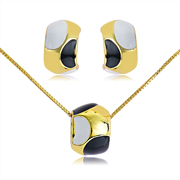Picture of Affordable Gold Plated Colorful Necklace and Earring Set from Trust-worthy Supplier