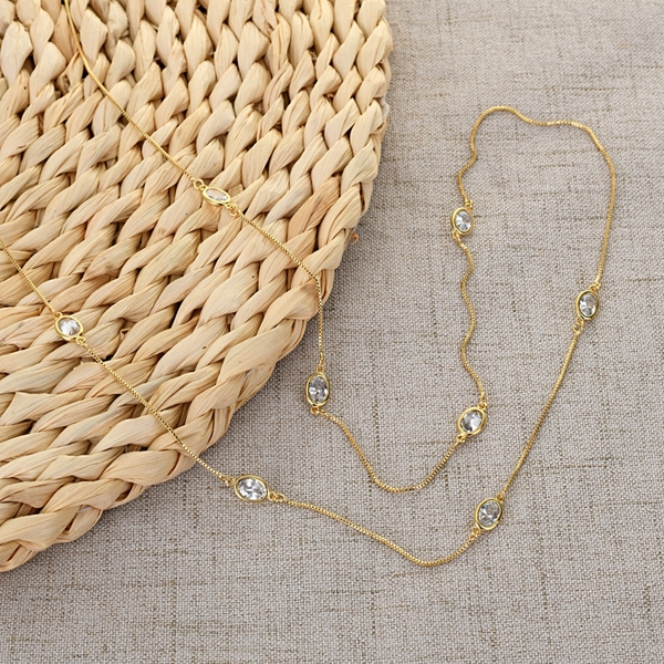 Picture of Copper or Brass Casual Long Chain Necklace in Exclusive Design