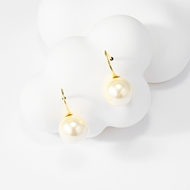 Picture of Famous Small Artificial Pearl Dangle Earrings