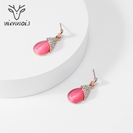 Picture of Need-Now Pink Medium Stud Earrings Factory Direct Supply