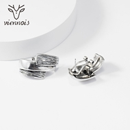 Picture of Great Value Platinum Plated Medium Stud Earrings with Full Guarantee