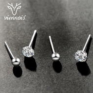 Picture of Fast Selling 925 Sterling Silver Cubic Zirconia Stud Earrings with Wow Elements