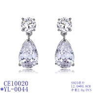 Picture of Cheap Platinum Plated Cubic Zirconia Stud Earrings
