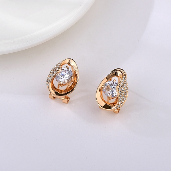 Picture of Unusual Small Rose Gold Plated Stud Earrings