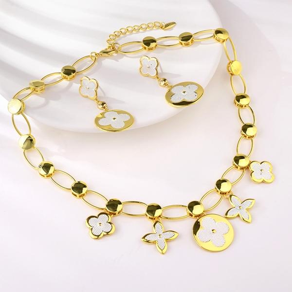 Picture of Dubai Gold Plated 2 Piece Jewelry Set of Original Design