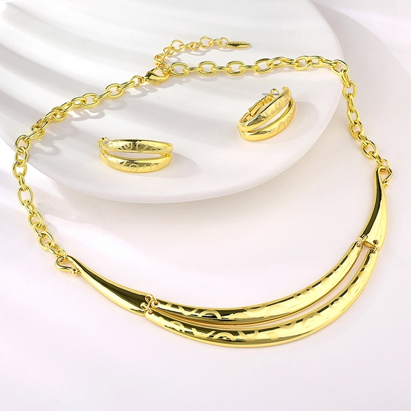 Picture of Hot Selling Gold Plated Zinc Alloy 2 Piece Jewelry Set Shopping