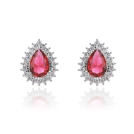 Picture of Big Luxury Stud Earrings for Her